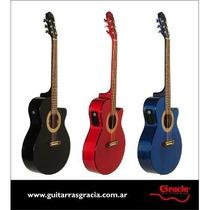 Gracia Guitarra Acustica 110 Eq Con Ecualizador Daiam