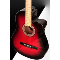 Guitarra Criolla C/corte O Electrocriolla + Funda De Regalo