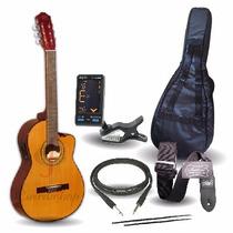 Gracia M8 Eq Guitarra Electro Criolla C/corte + Accesorios