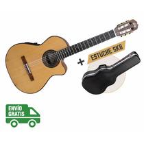 Guitarra La Alpujarra 85kec C/ Eq Prefix Plus + Estuche Skb3