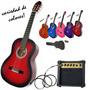 Combo Guitarra Criolla Electro Mediana Niño + Amplificador