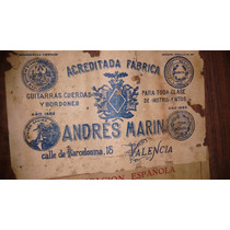 Guitarra De Coleccion , Valenciana Andres Marin 1882
