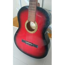 Guitarra Criolla - Hidden - Roja - Muy Buen Estado