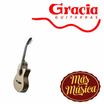 Gracia M10 Eq Guitarra Electro Acustica Natural C/ Funda
