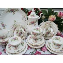 Juego De Te / Cafe- Porcelena Royal Albert, Moss Rose.