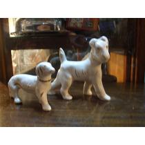 Perros Muy Antiguos De Porcelana