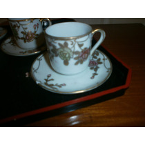 4 Tazas De Café De Porcelana