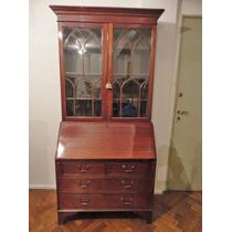 Antiguo Bureau Bookcase Ingles. Biblioteca Con Secretaire