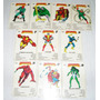 Lote De 10 Cartas Naipes Cromy Super Heroes 1985