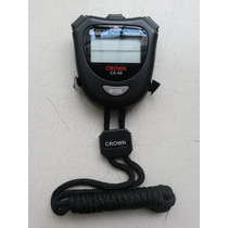 Cronómetro Digital Crown Ca-56 10 Memoria Reloj Alarma