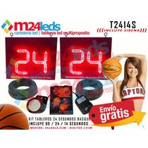 Reloj Kit 24 Segundos Basquet Basket Waterpolo 24/14/60