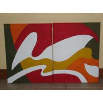 Cuadro Moderno Diptico Abstracto