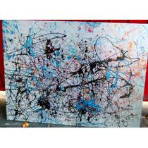 Cuadros Abstractos Jackson Pollock En Tela Algodon Bastidor