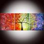Cuadro Pintados A Mano//tripticos Florales, Abstractos Y Más