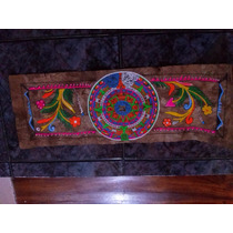 Pintura En Pergamino Calendario Azteca Pintado A Mano