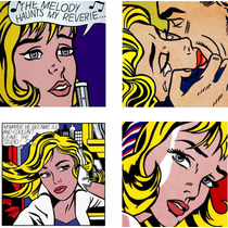 Cuadros Andy Warhol-klimt-lichtenstein-kandinsky/trípticos