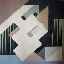 Cuadro Geometrico Abstracto En Acrílicos De 100 X 100 Cm