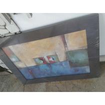 Cuadro Pintura Abstracta 85 X66cm C/ Vidrio
