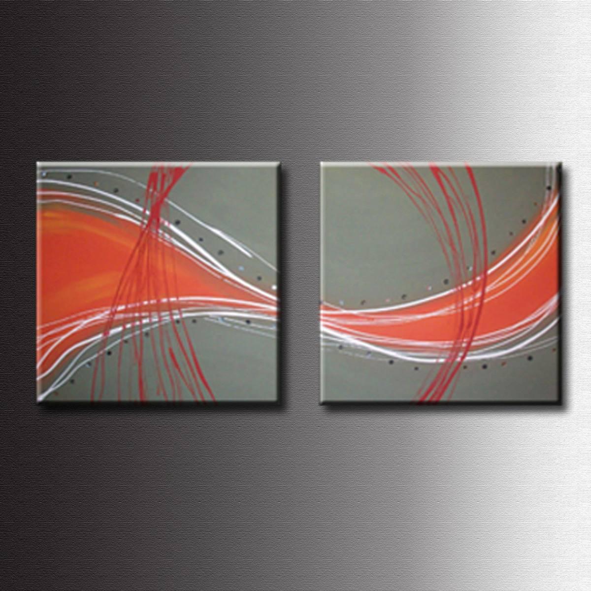 Cuadros abstractos tripticos dipticos flores modernas oleos for Cuartos modernos