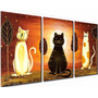 Cuadros Decorativos Gatos Infantiles Living Dormitorio Deco