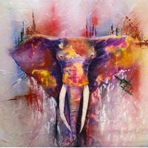 Elefante Pintura En Tela Canvas De 60x60 Cm - Exelente