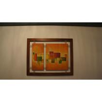 Cuadros Modernos Abstractos Tripticos,texturados C/marco