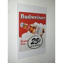 Cuadros Cerveza Budweiser - Vintage & Retro - 27x42
