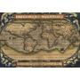 Mapamundi Antiguo, Vintage, Mapa Político - Cuadros O Chapas