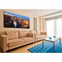 Las Vegas Bastidor En Tela Canvas 100 X 40 Cm Exelente Calid