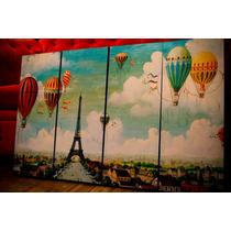 Set De Cuadros Paris Vintage. Políptico. Decoupage