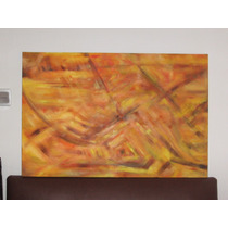 Cuadro Moderno Abstracto Sobre Bastidor De Tela 1.10 X 0.80
