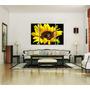 Cuadros Bastidores Tripticos Motivo Flores En Lienzo 120x80