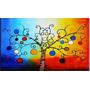 Cuadros Arbol D/la Vida Abstractos Pinturas Grandes Oferta