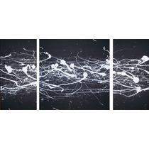 Cuadros Tripticos Modernos - Bastidores De Tela -110 X 50 Cm