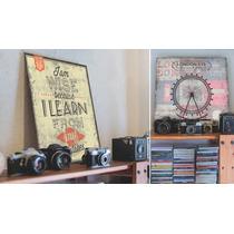 Chapas Vintage Retro Impresas. Diseños Exclusivos. 33x33cm