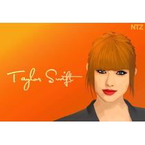 Cuadro De Taylor Swift En Canvas Con Bastidor 95x64