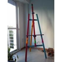 Atril De Madera Para Pintar Decorativo Intervenido