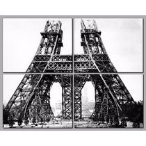 Torre Eiffel En Construccion Y En 4 Partes De 45x35 Cada Una