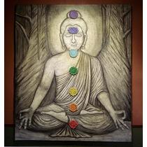 Cuadro En Relieve De Buda Meditando Con Chakras Yoga