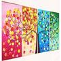 Cuadros Decorativos Tripticos Texturado Arbol Muebles Sillon