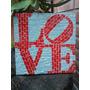 Cuadro Love Ny En Mosaico Venecita Y Espejo Con Tecnica Mosa