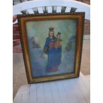 Antiguo Cuadro De La Virgen Maria Y Niño Jesus-angeles