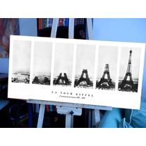 Làmina Torre Eiffel En Bastidor Tela Canvas 100x50