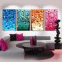 Cuadros Decorativos Abstractos Tripticos Living Dormitorio