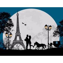 Paris Torre Eiffel Tela Canvas 70x55 .exelente Calidad