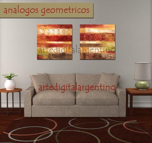 Cuadros Dipticos En Lienzo Abstractos Florales Decoracion