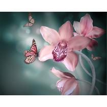 Cuadro De Flores Impreso En Tela Canvas Con Bastidor 80x62