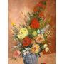 Hermoso Cuadro Pintado Al Oleo 50x70 Motivo Floral