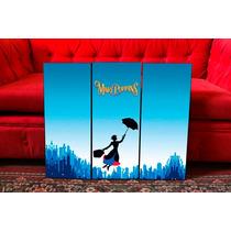 Cuadros Tripticos Mary Poppins - Infantiles - Cine Y Tv