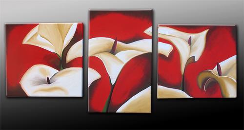 Cuadros tripticos modernos de flores imagui for Imagenes cuadros modernos
